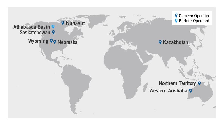 Exploration Map Exploration Uranium Projects